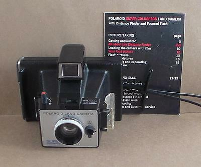 Vintage Polaroid Super Colorpack Land Camera with Manual