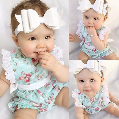 Toddler Newborn Infant Baby Girl Romper Jumpsuit Bodysuit Outfit Sunsuit Clothes