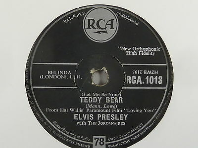 ELVIS PRESLEY- Teddy Bear / Loving you  -R´n`R- 78er Schellack, RCA