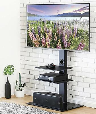 MMT CBM3 Black Glass Steel TV Stand with mount for 32 inch to 50 inch LCD LED