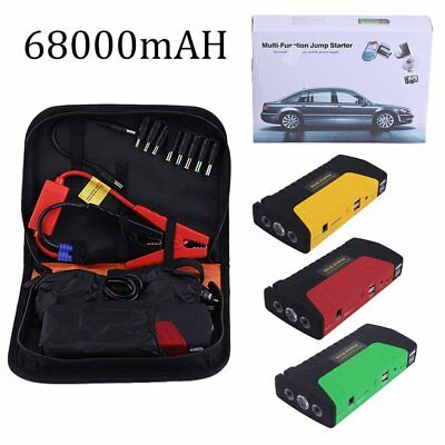 68000mah Portable Emergency Start Car Jump Starter Power Bank 3 Lights With BaAL