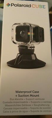 Polaroid Cube Waterproof Case + Suction Mount ACCESSORY ONLY NEW