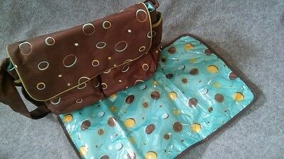 George,Baby Boom, Mesanger style, diaper changing bag,includes changing pad EUC