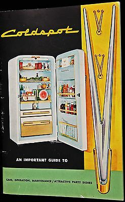 1950s Coldspot Electric Refrigerator Owners Manual with Recipes booklet