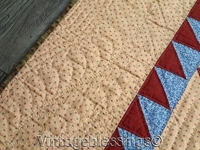 """EARLY PA Antique c1860-1880 Turkey Red Lancaster Blue QUILT 83x83"""""""