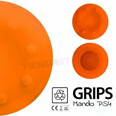 2x Fundas de silicona Joystick mando Sony PS4 Playstation 4 XBOX ONE NARANJA