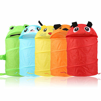 Animals Shape Kids Children Pop Up Clothes Storage Basket Toys Shoes OrganizAL