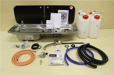 Smev 9222 Dometic M09222 Cooker Sink Combo With Tap, Gas And Water Plumbing Kit