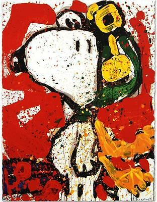 """""""TO REMEMBER (SNOOPY)"""" by TOM EVERHART - LIMITED EDITION LITHOGRAPH - PERFECT!"""