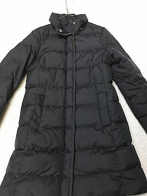J.Crew Long Belted Down Puffer Coat Jacket Black Size Small S *Missing Belt*