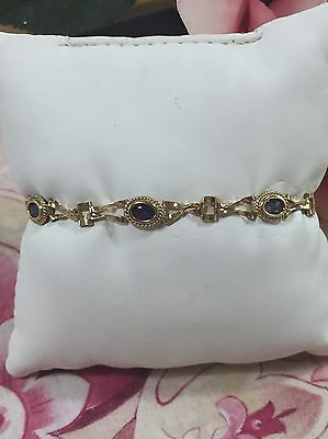 Vintage 9ct Yellow Gold Opal Bracelet