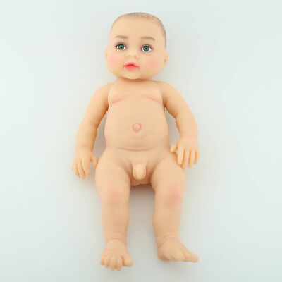Green-Eyed Reborn Baby BOY Full Body Realistic Doll Education Toy Silicone Cute