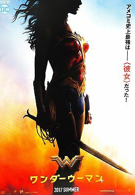 Wonder Woman 2017 Gal Gadot DC Comics Japanese Chirashi Mini Movie Poster B5