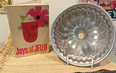 JOYS of JELLO Recipe Book & Large Aluminum collectible Fluted Mold