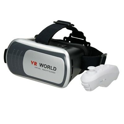 3D Virtual Reality Brille Bluetooth Video Film Für Ios Android Vr World Box