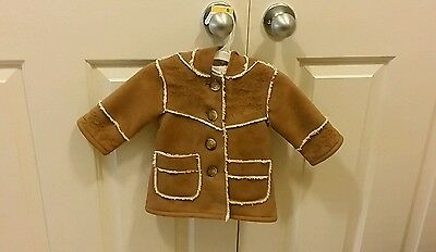 Baby Gap Faux Shearling Coat and Hat 3-6 months