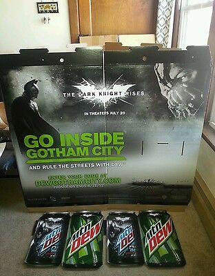 Batman Mountain Dew The Dark Knight Rises Display Complete Never Used Gotham