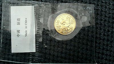 Chinese gold panda coin selaed mint 1/20oz 1992 small  dates