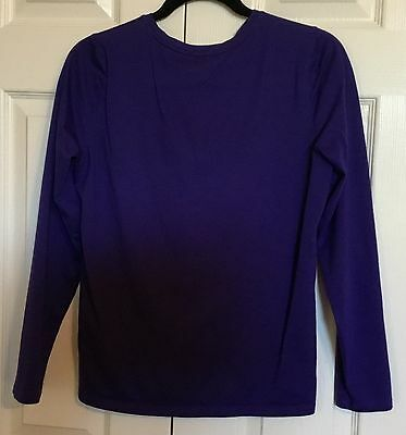 Ladies LANDS END Relaxed Purple Long Sleeve T Shirt Top  Size S