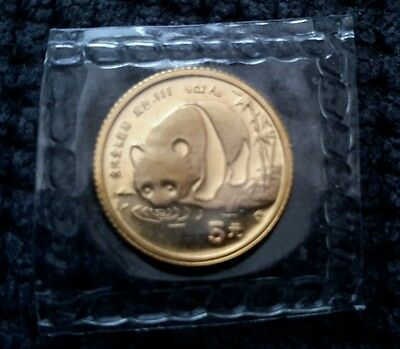 Chinese gold panda coin selaed mint 1987 S 1/20 oz