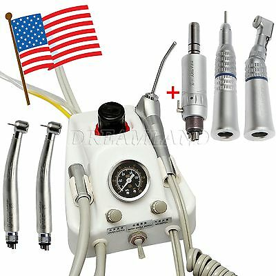 Dental Air Turbine Unit Work w/ Compressor +Fiber Optic +Slow Speed Handpiece JY