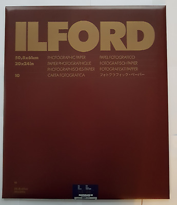 "ILFORD MULTIGRADE RC WARMTONE MGRC 20"" X 24"" PEARL PHOTOGRAPHIC PAPER 10 sheet"