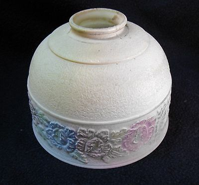 Vintage Art Deco Frosted Glass Floral Flower Ceiling Light Fixture Globe Shade