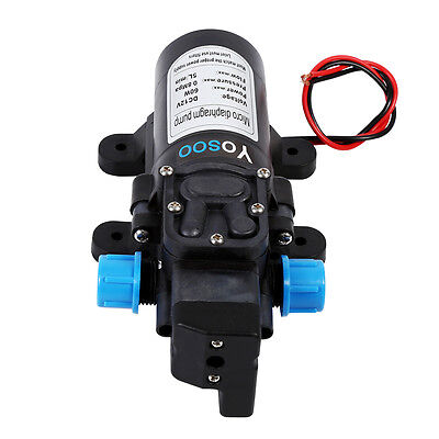 12v DC 115 PSI 5L/Min High Pressure Diaphragm Water Pump for RV Caravan Boat Car
