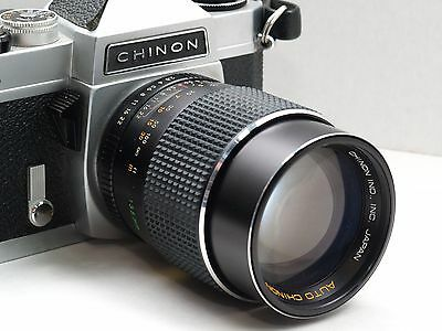Chinon CS 35mm camera with free lens! Camera manual included.