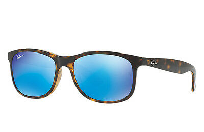 Ray-Ban RB4202 710/9R Tortoise Frame Polarized Blue Flash 55mm Lens Sunglasses