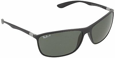 Ray-Ban RB4231 601S9A Black Frame Polarized Green Classic 65mm Lens Sunglasses