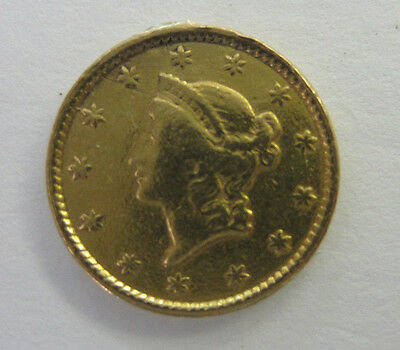 1854 $1 Gold Liberty Head Dollar Type I