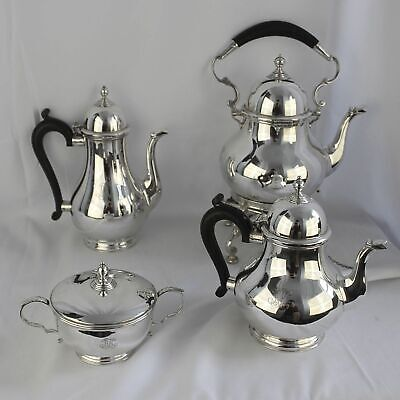 Vintage England Queen Ann Tiffany & Co Monogram Sterling Silver Tea Set 925 MX