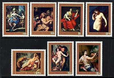 Hungary 1970 Paintings in the National Gallery Budapest SG.2525/2531 Mint (MNH)