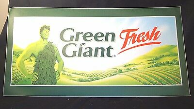Vintage Early 1980s Jolly Green Giant Food Grocery Store Advertising Sign