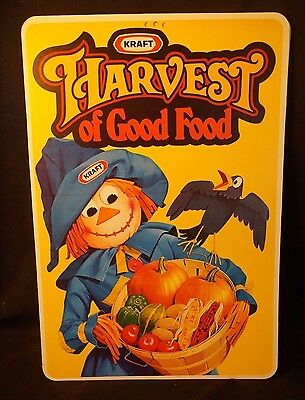 Vintage Kraft 1980s Halloween Theme Grocery Store 2Sided Advertising Sign 12X18