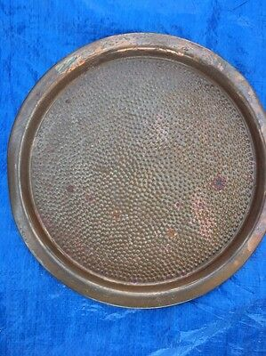 "Copper Craft Hammered 12 1/2"" Serving Tray Platter"