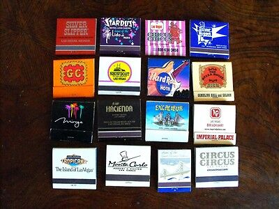 Lot Of 16 LAS VEGAS Casino Vintage Matchbooks Unstruck Excellent Condition