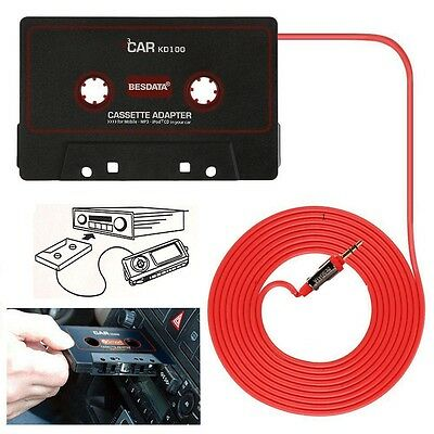 Car Audio Tape Cassette AUX For Universal 3.5mm Jack Phones Conection to Car