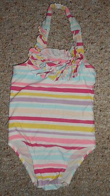 OLD NAVY Ruffled Top Striped One Piece Bathing Suit Girls Size 3T