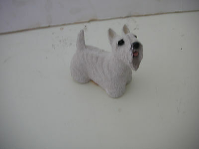Westie Stone Critters Terrier Dog Figurine  signed Made USA