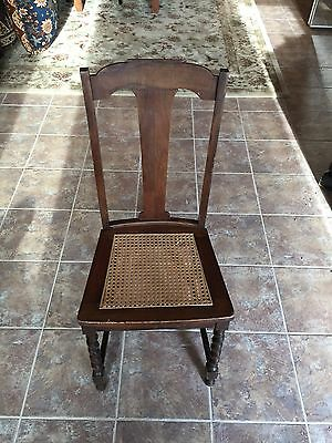 Antique Chair Cane Seat Wooden Chair