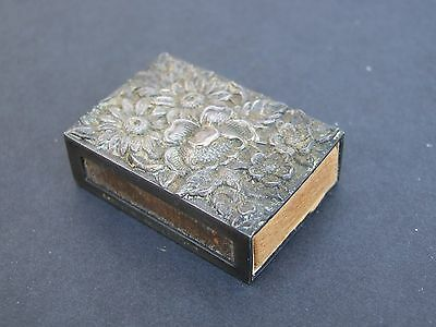 Vintage KIRK Sterling Repousse Match Holder 90F S. Kirk & Sons, original matches
