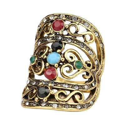 Bohemian Style Cubic Zirconia Rhinestone Midi Ring New Ancient Statement Ring!!