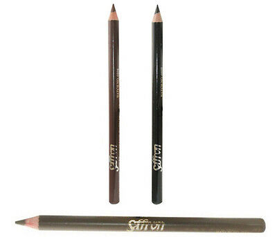 Saffron Waterproof Eyebrow Pencil - Black Blonde Dark Brown