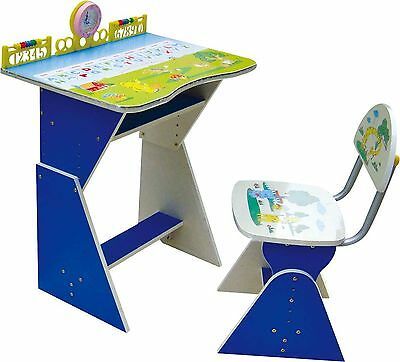 Study Desk Children Computer Adjustable Chair Furniture Table Seat Kids Child 2
