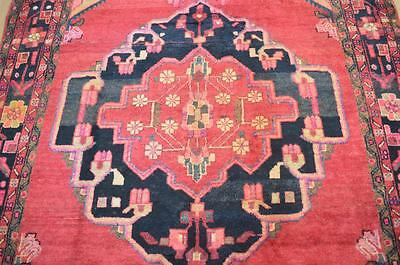 5'6 x 9'4 Authentic Semi Antique Persian Tribal Oriental Hand Knotted Wool Rug