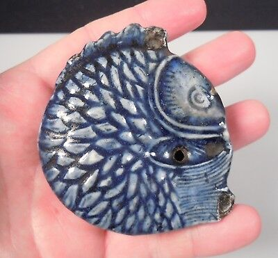 Antique Korean Blue Glazed FISH Water Dropper