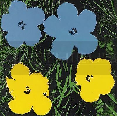 Andy Warhol-Flowers, Canvas/Paper Print, Pop Art