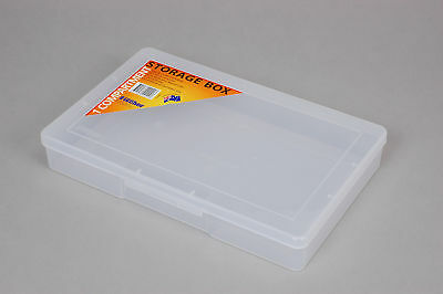 5 x Fischer Plastic Products 1 Compartment Storage Box Large 1H-092 Clear